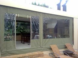 Canvas blind with crank system with door & window inserts